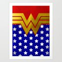 "Wonder ""Retro"" Woman Art Print"