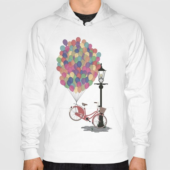 Love to Ride my Bike with Balloons even if it's not practical. Hoody