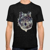 Wolf // Persevere  Mens Fitted Tee Tri-Black SMALL