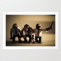 More Monkeys Art Print