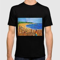 Summer down the Cape Mens Fitted Tee Black SMALL