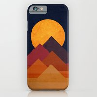moon iPhone & iPod Cases featuring Full moon and pyramid by Picomodi