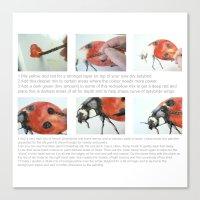 Art Demo On A Cushion - … Canvas Print