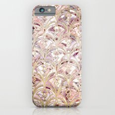 Dusty Rose and Coral Art Deco Marbling Pattern iPhone 6s Slim Case