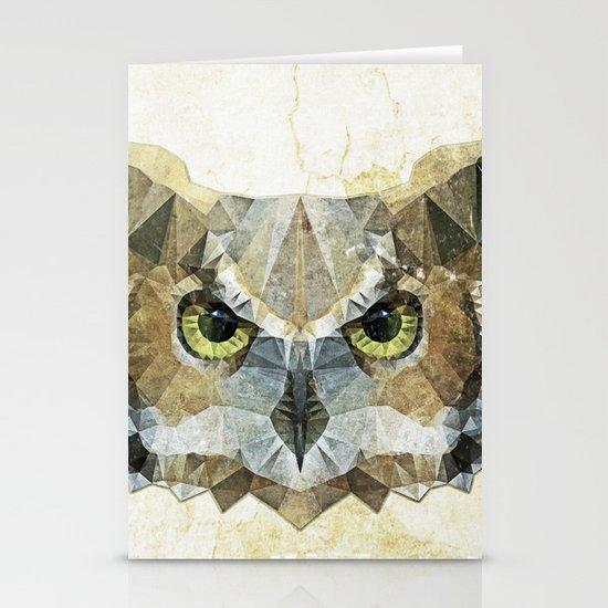 abstract owl Stationery Card