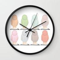 Top Knots Wall Clock