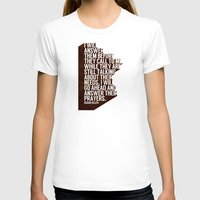 ANSWERS Womens Fitted Tee White SMALL