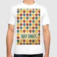 Just Smile. Mens Fitted Tee White SMALL