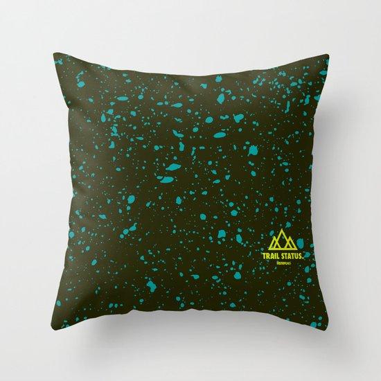 Trail Status / Green Throw Pillow