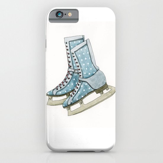 Polka dot ice skates iPhone & iPod Case