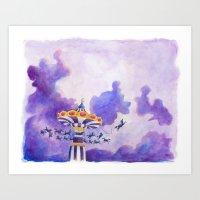 The Magic Carousel Art Print