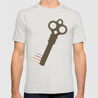 Open Your Mind Mens Fitted Tee Silver SMALL