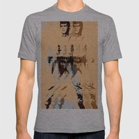 FPJ agent orange Mens Fitted Tee Athletic Grey SMALL