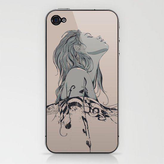 Floating in The Rhythm iPhone & iPod Skin