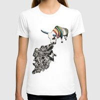 COW Eating a Dress Womens Fitted Tee White SMALL