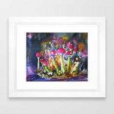 Who loves Mushrooms? Framed Art Print