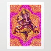 Ganesha (Color Variation 4) Art Print