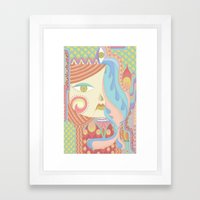 Layla in Pastel Framed Art Print