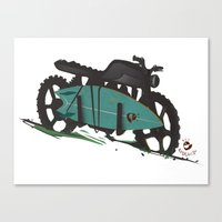 Canvas Print featuring The Bike by ~emroca~