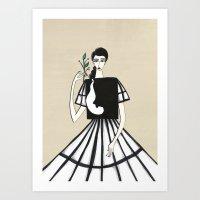Henri Matisse inspired fashion Art Print