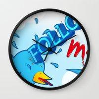 follow me! Wall Clock