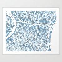 Philadelphia City Map Art Print
