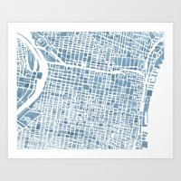 Philadelphia City Map Art Print