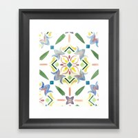 Repeating Floral Pattern Framed Art Print