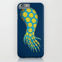 iPhone & iPod Case featuring The deceitful smiley face octopus by Ingrid Aspöck