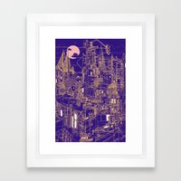 San Francisco! (Night) Framed Art Print