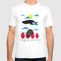 CIAO SIGNORA BALENA Mens Fitted Tee White SMALL