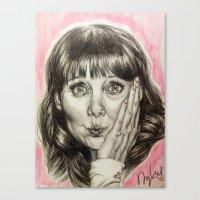 Asha Cuthbert    By Davy Wong Canvas Print