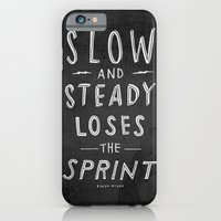 slow and steady loses the sprint blk&wht iPhone 6 Slim Case