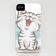 Cat iPhone (4, 4s) Slim Case