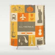 All the feels Shower Curtain