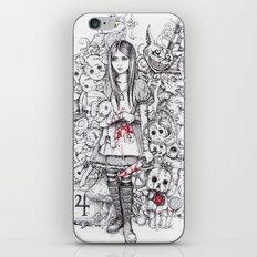 wonderland shattered iPhone & iPod Skin
