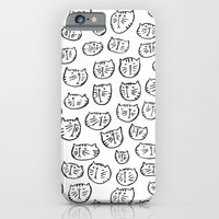 iPhone & iPod Case featuring Fussy Cat by Jenna Freimuth