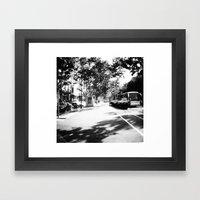 Gran Via De Les Corts Ca… Framed Art Print