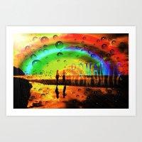 Romantic Sunset Reflecti… Art Print