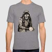 Anonymous Gangster Mens Fitted Tee Tri-Grey SMALL