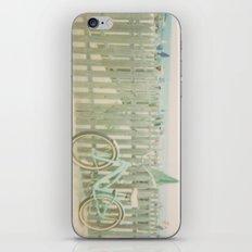 Beach Cruiser Bicycle Polaroid iPhone & iPod Skin
