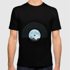 MOON TUNE Mens Fitted Tee Black SMALL
