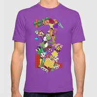 NERD Issimo Mens Fitted Tee Ultraviolet SMALL