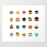 If I Had a Moustache Art Print