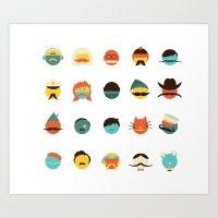 If I Had A Moustache Art Print