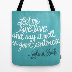 To live and to love. (Colored) Tote Bag