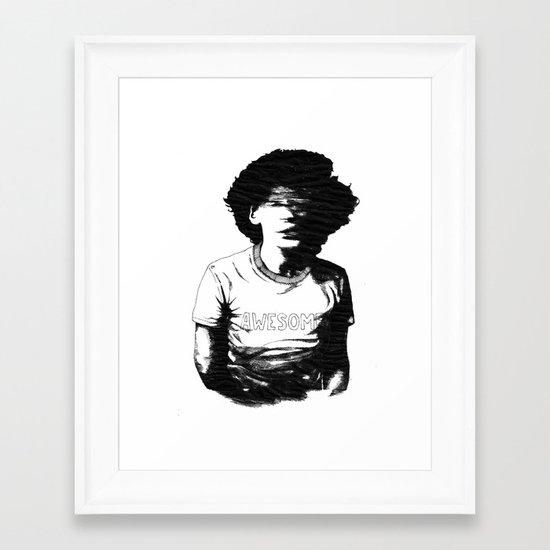 Awesome! Framed Art Print