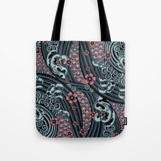 waves of tradition-blue Tote Bag