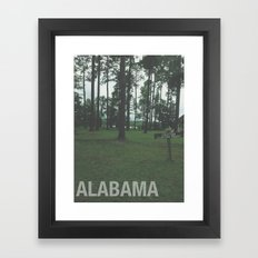 ALABAMA Framed Art Print