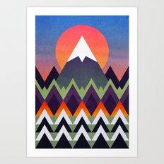 Camp / Sunset Version Art Print